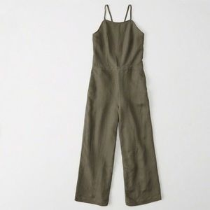 Olive Green Culottes Jumpsuit Abercrombie & Fitch